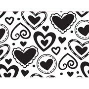 "Layered Heart Background (4.25""x5.75"") embossing folder by Darice"