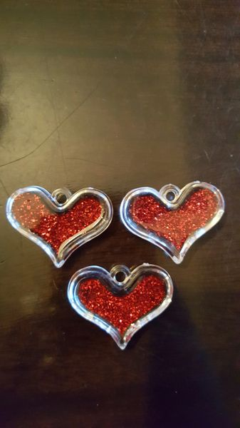 Heart Pendant 40mm (3pcs)