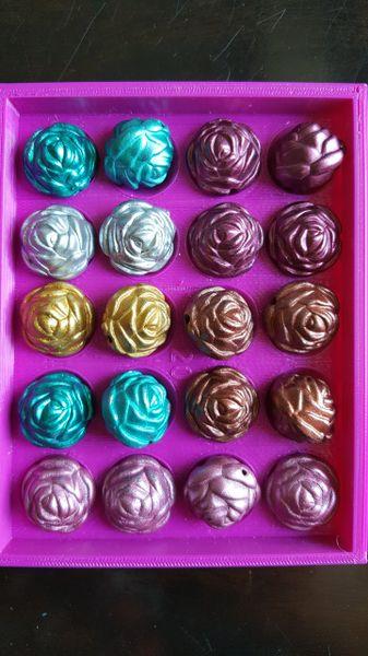 Rose Beads (19mm) 20pcs per pack.
