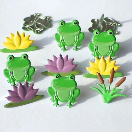Frog mix brads by Eyelet Outlet
