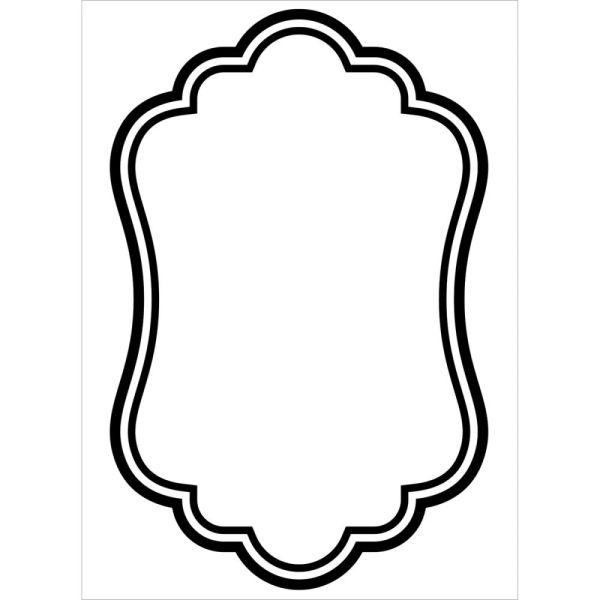 "Oval Border Embossing Folder (4.25""x5.75"") by Darice"