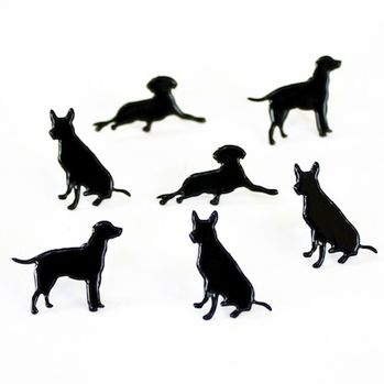 Dog Silhouette Brads by Eyelet Outlet