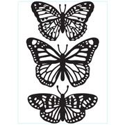 Butterfly Trio - 4.25 x 5.75 inches
