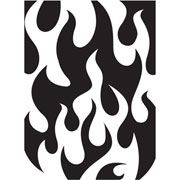 "Fire Flames Embossing Folder (4.25""x5.75"") by Darice"
