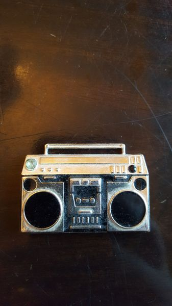 Boom Box Pendant with Rhinestone 50mm