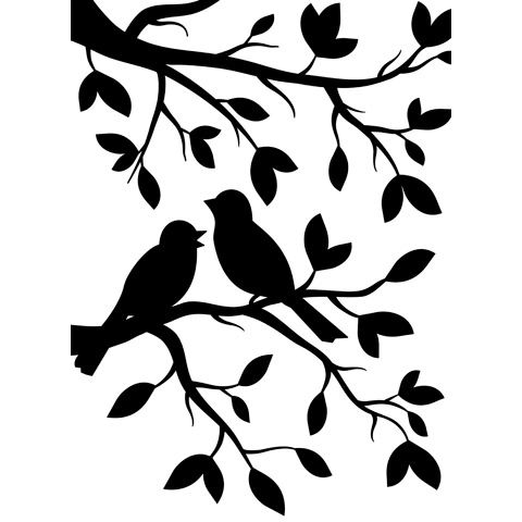 "Birds in Branches Embossing Folder (4.25""x5.75"") by Darice"
