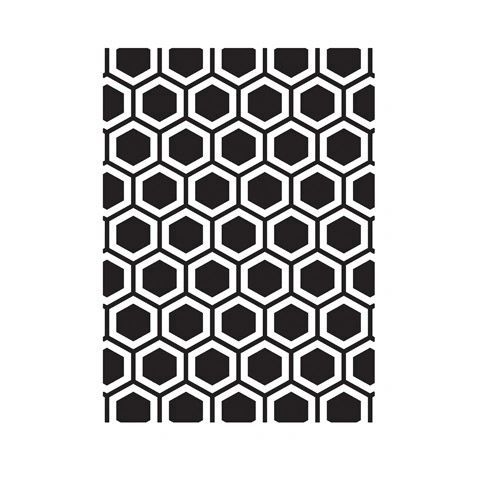 "Honeycomb Background Embossing Folder (4.24""x5.75"") by Darice"