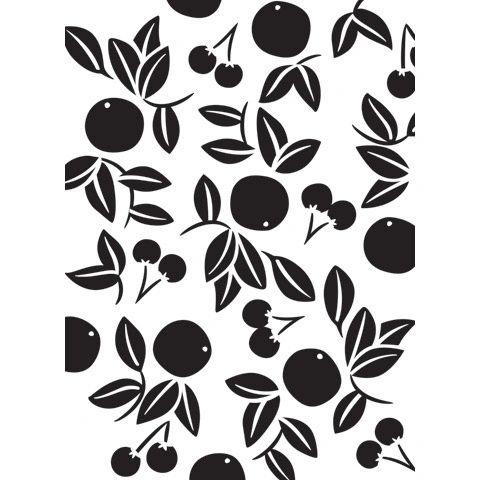 """Cherry (Cherries) Embossing Folder (4.24""""x5.75"""") by Darice"""