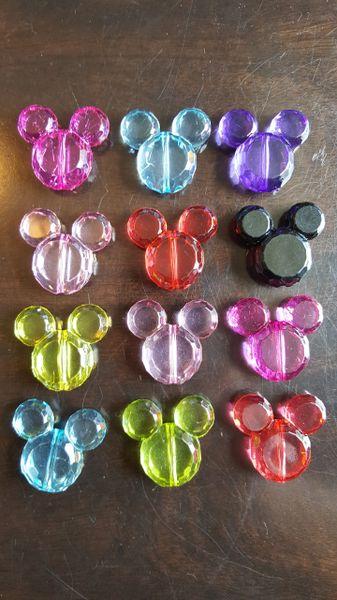 Mouse Head Beads 34mm (6pcs)