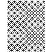"Circle Interlock Background (4.25""x5.75"") embossing folder by Darice"
