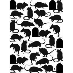 "Mice and Door Embossing Folder (4.25""x5.75"") by Darice"