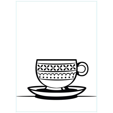Teacup and Saucer - Darice Embossing Folder - 4.25 x 5.75 inches