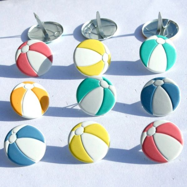 Beach Ball brads by Eyelet Outlet