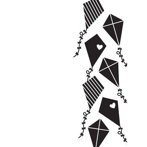 Kites Background - Darice Embossing Folder - 4.25 x 5.75 inches