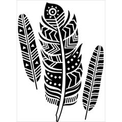"Tribal Feathers Embossing Folder (4.25""x5.75"") by Darice"