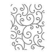 Darice Embossing Folder - Gem Swirls Background - 4.25 x 5.75 inches
