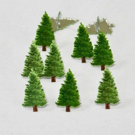 Evergreen Trees (12pcs) by Eyelet Outlet