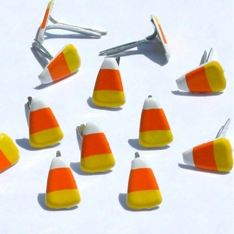 Candy Corn brads (Halloween) by Eyelet Outlet