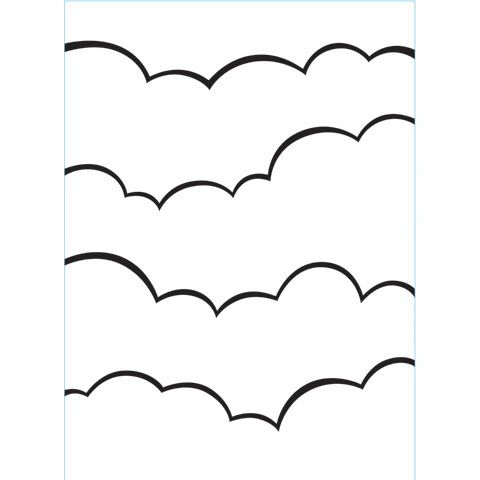 """Clouds Background Embossing Folder (4.24""""x5.75"""") by Darice"""