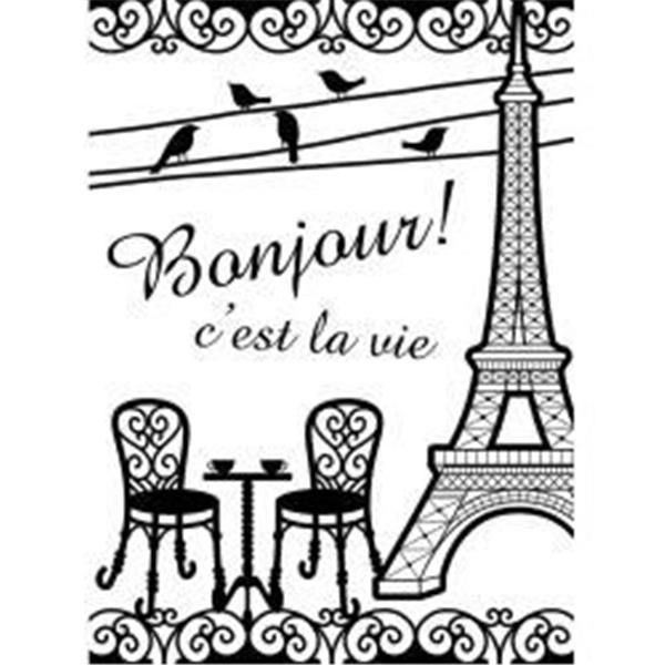 "France French Bistro, Embossing Folder (4.25""x5.75"") by Darice"