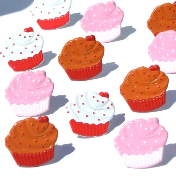 Cupcake brads (12pcs) by Eyelet Outlet