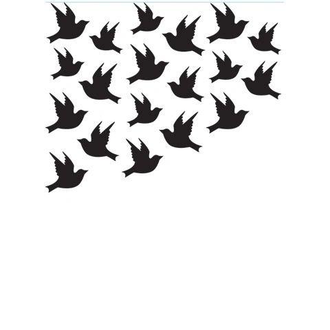 "Birds Background Embossing Folder (4.24""x5.75"") by Darice"