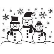 "Snowman Embossing Folder (4.25""x5.75"") by Darice"