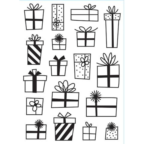 "Presents Background Embossing Folder (4.24""x5.75"") by Darice"