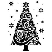 Fansy Christmas Tree Embossing folder 4.25 x 5.75 by Darice