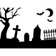 "Graveyard Scene Embossing Folder (4.25""x5.75"") by Darice"