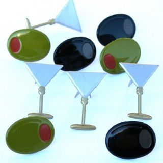 Martini Glass & Olive Brads by Eyelet Outlet