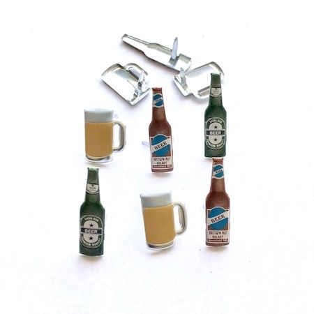 Beer brads (12pcs) by Eyelet Outlet