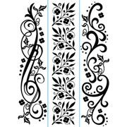 "Flower Flourishes Trio (4.25""x5.75"") embossing folder by Darice"