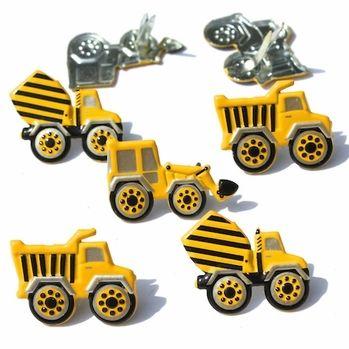 Construction Truck Brads by Eyelet Outlet