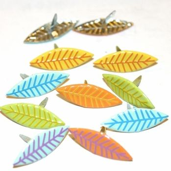 Leaf Brads Bright by Eyelet Outlet