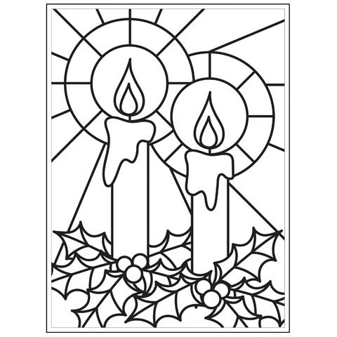 Mosaic Candle - 4.25 x 5.75 inches