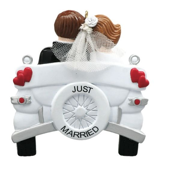 VINTAGE WEDDING PERSONALIZED ORNAMENT