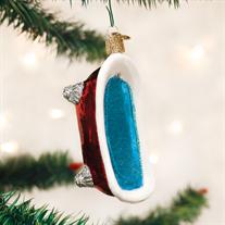 Old World Clawfoot Tub Glass Ornament