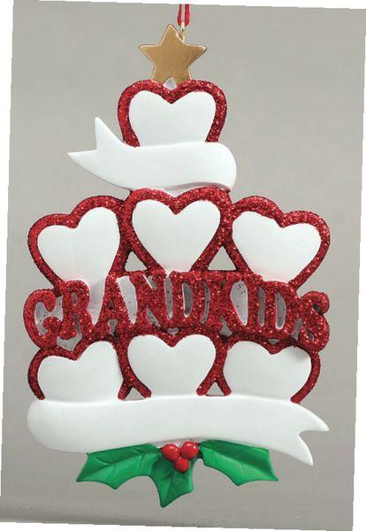 GRANDKIDS HEARTS 7 PERSONALIZED ORNAMENT