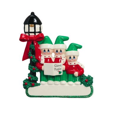 CAROLER FAMILY 3 PERSONALIZED ORNAMENT