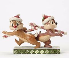 "Jim Shore Disney Traditions ""Candy Cane Caper"" Chip N Dale"