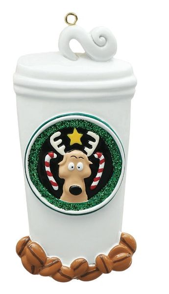 COFFEE LOVER PERSONALIZED ORNAMENT