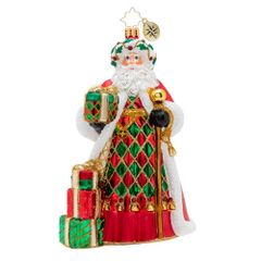 Christopher Radko Holiday Harlequin Santa