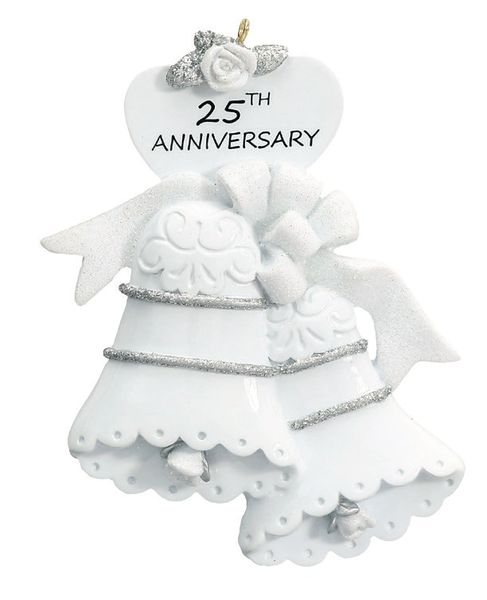 25th ANNIVERSARY PERSONALIZED ORNAMENT