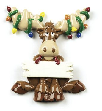 CHRISTMAS MOOSE PERSONALIZED ORNAMENT