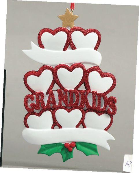 GRANDKIDS HEARTS 8 PERSONALIZED ORNAMENT