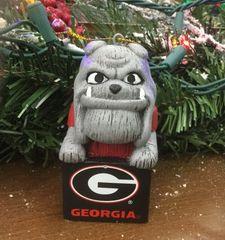 Tiki Mascot Georgia Dawgs Ornament