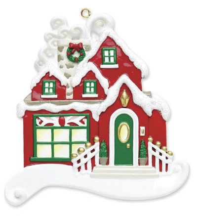 CHRISTMAS COTTAGE PERSONALIZED ORNAMENT