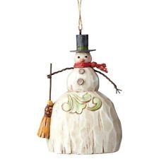 Jim Shore Folklore Snowman With Broom Ornament