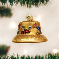 Old World Fisherman's Hat Glass Ornament